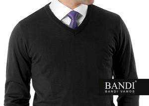 Pánský svetr BANDI s véčkovým výstřihem a košilí s kravatou