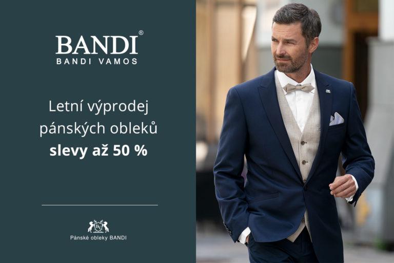 Letní výprodej pánských obleků – SLEVY až 50 %